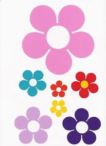 Retro-Flower-Sticker-Set-for-Ford-Ka-VW-Polo-Camper-Bug-Bongo-Caravan-Mini-Fiat