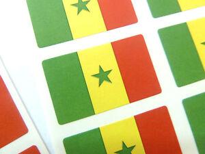 Mini-Sticker-Pack-Self-Adhesive-Senegal-Flag-Labels-FR224