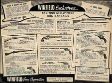 1958 TERNI Carbine VETTERLI Rifle WEBLEY Revolver Enfield~S&W~Winfield Arms AD