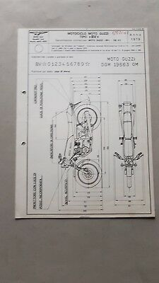 100% Vero Moto Guzzi 125 2c 4t '79 Fiche Omologazione Motorizzazione Originale No Depliant Ampie Varietà