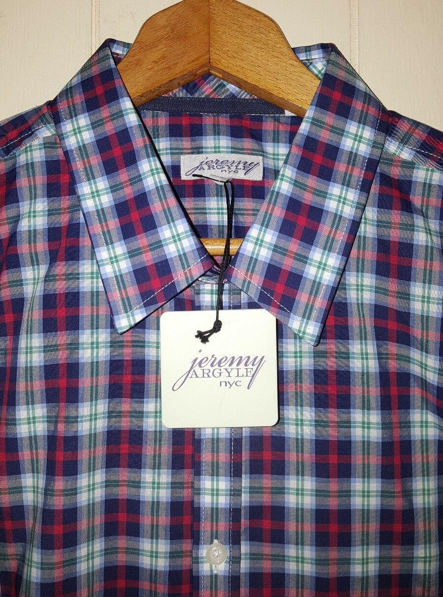 Jeremy Argyle NYC Button Shirt Mens XL  Multi-color NWT