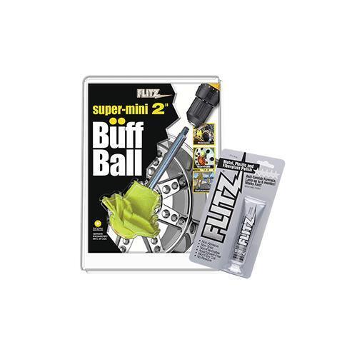 Flitz Buff Ball - Super  Mini 2  - Yellow W 1.76Oz Tube Flitz Polish  great offers