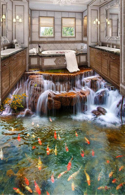 3D Stream Fluss Fototapeten Wandbild Fototapete Tapete Familie DE Lemon
