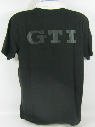 GENUINE VOLKSWAGEN MERCHANDISE VW GTI MENS BLACK POLO T SHIRT