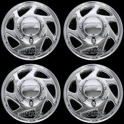 "Set of 4 CHROME Ford Truck 16"" 8 Lug Full Wheel Covers Hub Caps fits Steel Rim"