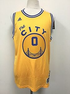 buy popular c771d 1520e Details about Golden State Warriors adidas NBA Swingman 'The City' Jersey  Caballero #0 Size L