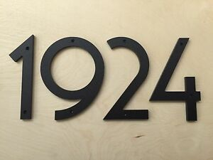 8 inch art deco house numbers color choices ebay