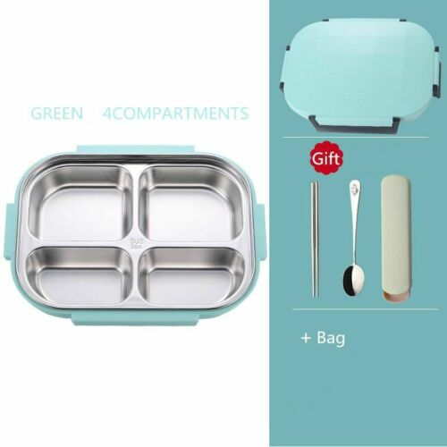 Lunch Box Thermal Stainless Steel Thermos Set Kid Adult Food Container With Bags