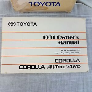 1991 toyota corolla all trac 4wd owners manual ebay rh ebay co uk 1991 toyota corolla repair manual pdf 1991 toyota corolla service manual pdf