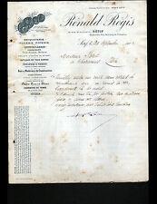 """SETIF (ALGERIE) QUINCAILLERIE BRIQUETERIE TUILERIE POTERIE """"RENALD REGIS"""" 1902"""