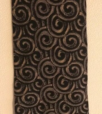 Gordon Thomas Collectibles Black Gray Vintage Swirls Design Silk Tie USA Made