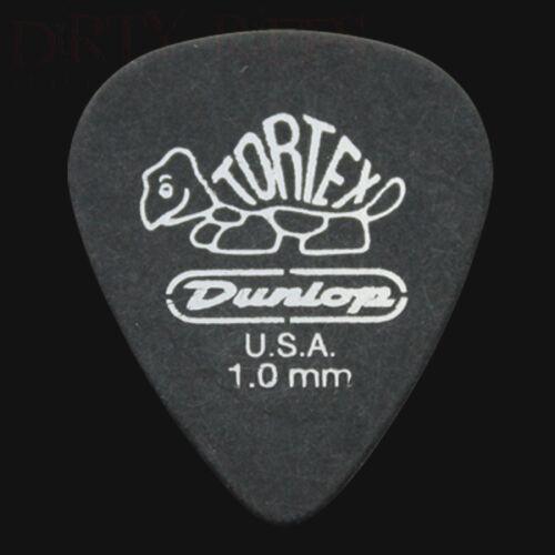 Dunlop Tortex Pitch Black Standard Guitar Picks Plectrums 1.00mm 6 10 12 20 24