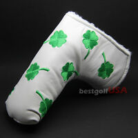 Golf Putter Cover Shamrock Clover Velcro For Scotty Cameron Ping Odyssey Blade