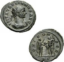 Aurelian Antoninian Siscia 271/272 IOVI CONSER Jupiter Globus Zepter RIC 225
