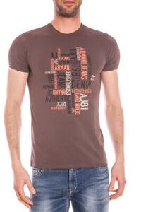 C6h14da Sweatshirt Jeans Armani 57 Cotone Maglietta Uomo Shirt T Marrone xP8RnqTw