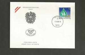 AUSTRIA-1989-The-100th-Anniversary-of-Social-Security-in-Austria-FDC