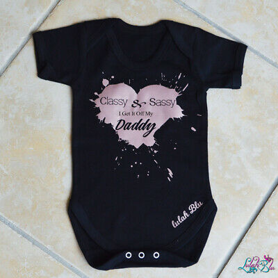 Daddy loves me Cute Gift Baby Bodysuit By Apparel USA™