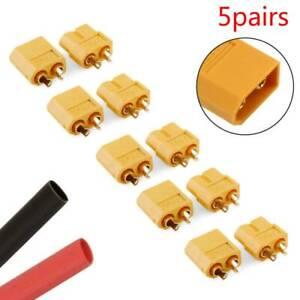 Lots-5-Pairs-10Pcs-XT60-Male-amp-Female-Bullet-Connectors-Plugs-for-RC-Lipo-Battery