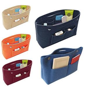 Women-Insert-Handbag-Organiser-Purse-Felt-liner-Organizer-Bag-Tidy-Travel-US