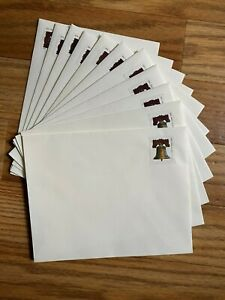 """11 Pre Stamped Envelopes Forever Postage Liberty Bell Cream 4-5/8"""" x 5-7/8"""""""