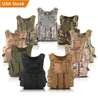 Tactical Military SWAT Police Airsoft Molle Combat Assault Plate Carrier Vest