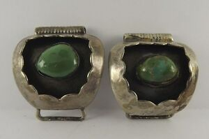 Vintage-Sterling-Silver-Watch-Band-With-Green-Stones-Turquoise