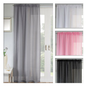 Image Is Loading Jewel Sparkle Voile Curtain Panel Slot Top Pink