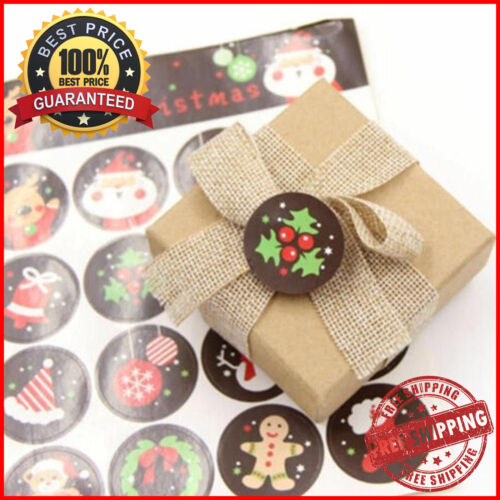 Sello de envolvente de Navidad Pegatinas Etiqueta de diseño de Santa Claus decoraciones de Carta nuevo