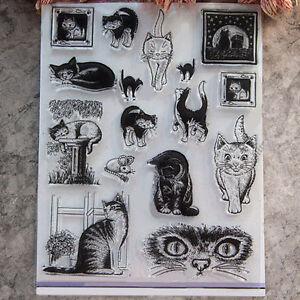 Cat Cutting Dies Stencil DIY Scrapbooking Album Card Paper Embossing Decor Craft