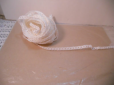 Open Weave White 10 Yds Millinery Doll Paper Hat Straw