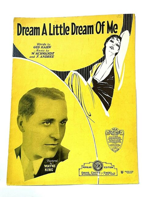 "Vintage ""Dream a Little Dream of Me"" Sheet Music"