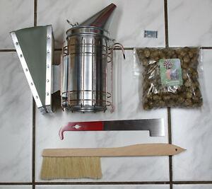 Imker Smoker-Set inkl. Rauchmittel Bienenbesen Stockmeißel gerade Imker Bienen