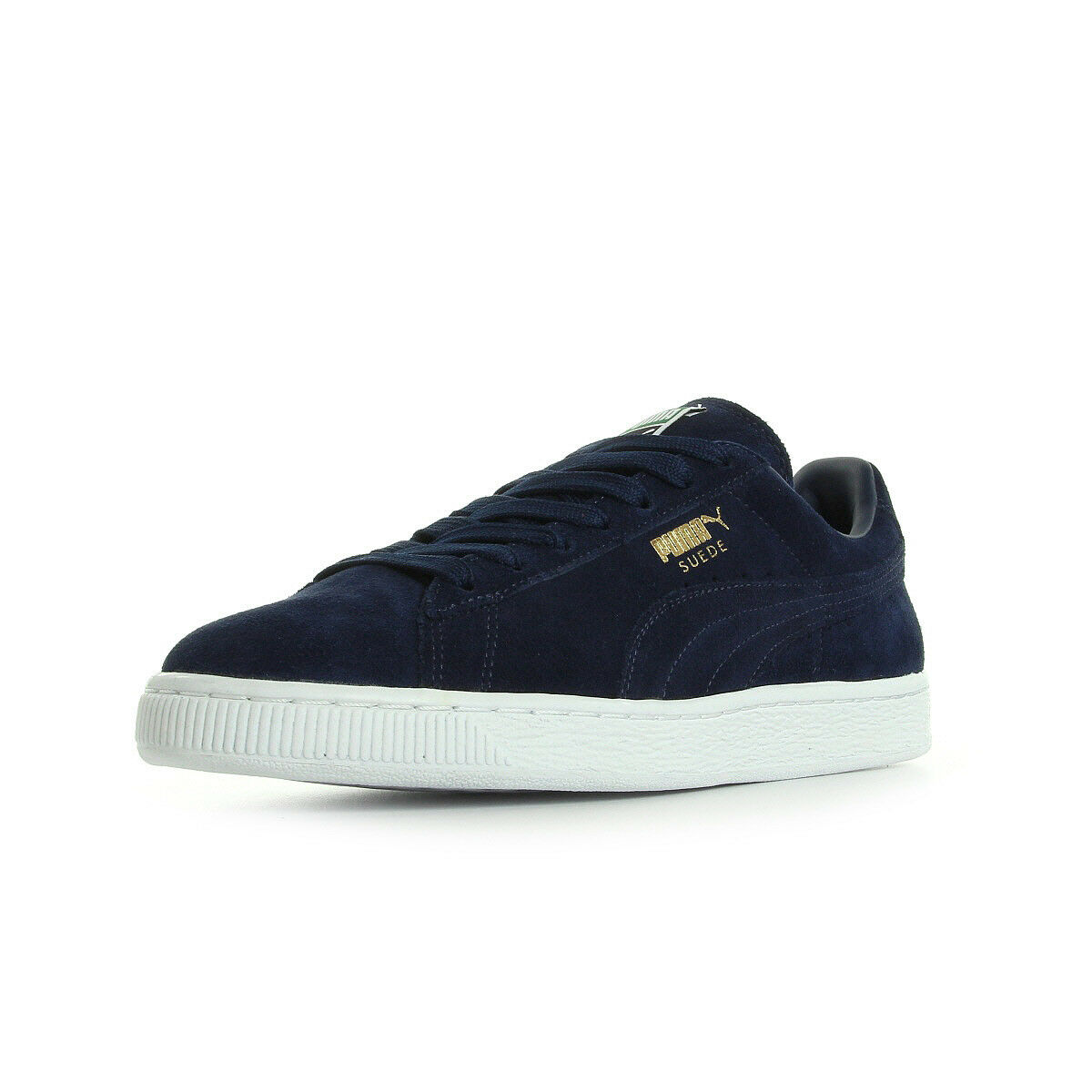 Chaussures Baskets Puma unisexe Suede Classic + taille Bleu marine Bleue Cuir