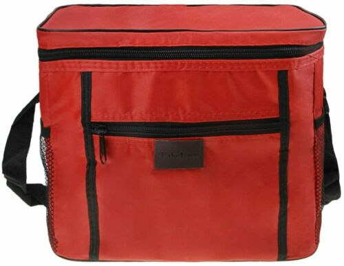 New Hot Food Thermal Insulated Delivery Bags Warm Food Foldaway Takeaway Red 11l