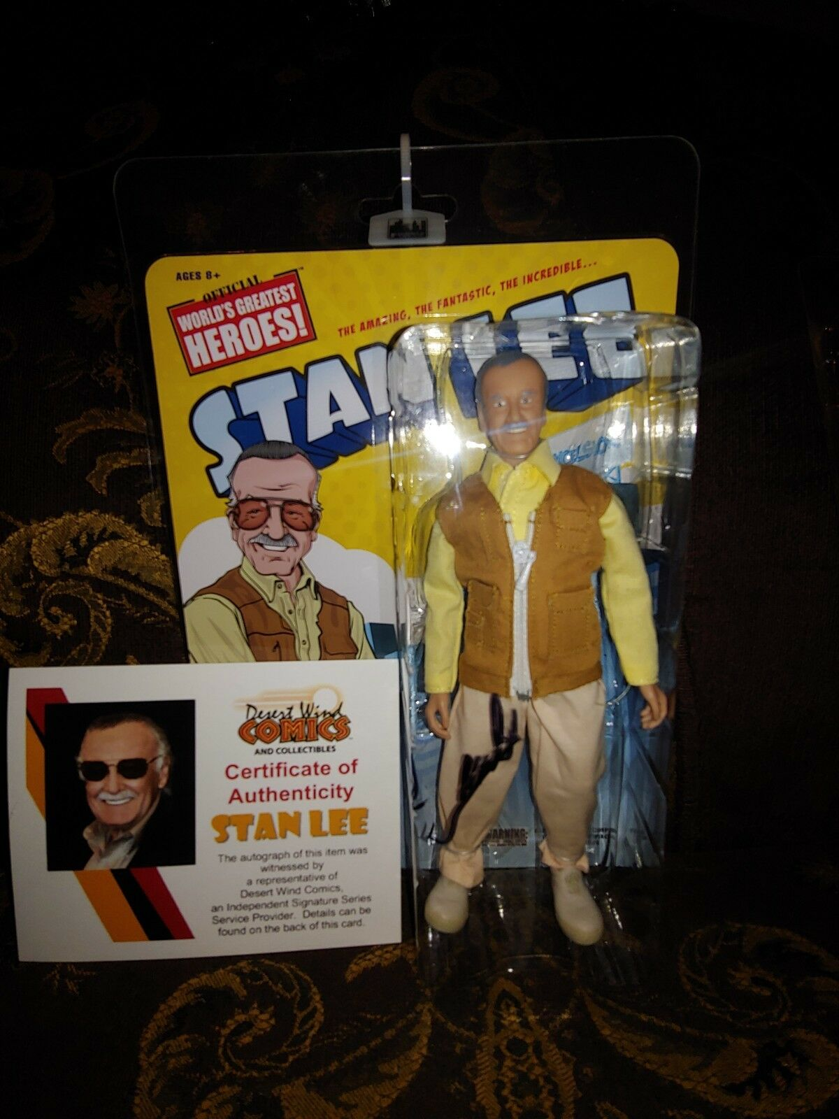 Stan Lee Retro 8 Inch Action Figure  [Autographed With COA]