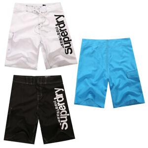 Mens-Plaid-Quick-Dry-Check-Surf-Board-Shorts-Swim-Trunks-Beach-Pants-Size-30-38