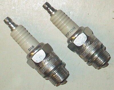29-47 Flathead Knucklehead 18mm Spark Plugs Champion D16 Pair