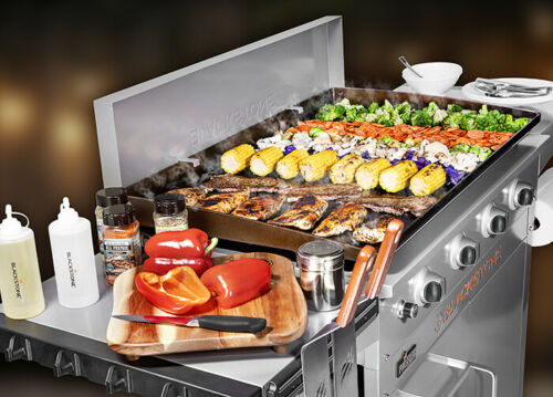 Griddle 4 Gas Bunners Blackstone 36 Pro Series W// Hard Cover BBQ Party Tailgate