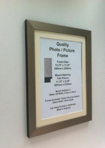 Dark Silver Photo Picture 28mm Frame 13x13 13x14 13x15 13x16 13x17-36 Inch Mount