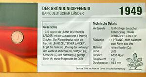 BRD Jägernr: 376 1949 F sehr schön Eisen, Kupfer 1949 1 Pfennig Eichenzweig F