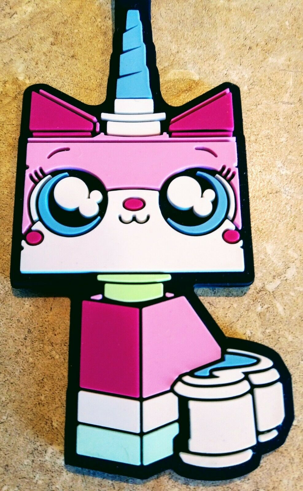 Adorable Unikitty Rose Licorne Chat Film Lego 2 bagages Sac Tag figurine forme