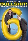 Penn & Teller Bullshit Complete Sixth Season DVD Region 1 US IMPORT NTSC