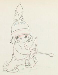 Little-Hiawatha-Disney-Silly-Symphony-Original-Production-Cel-Drawing-1937-56