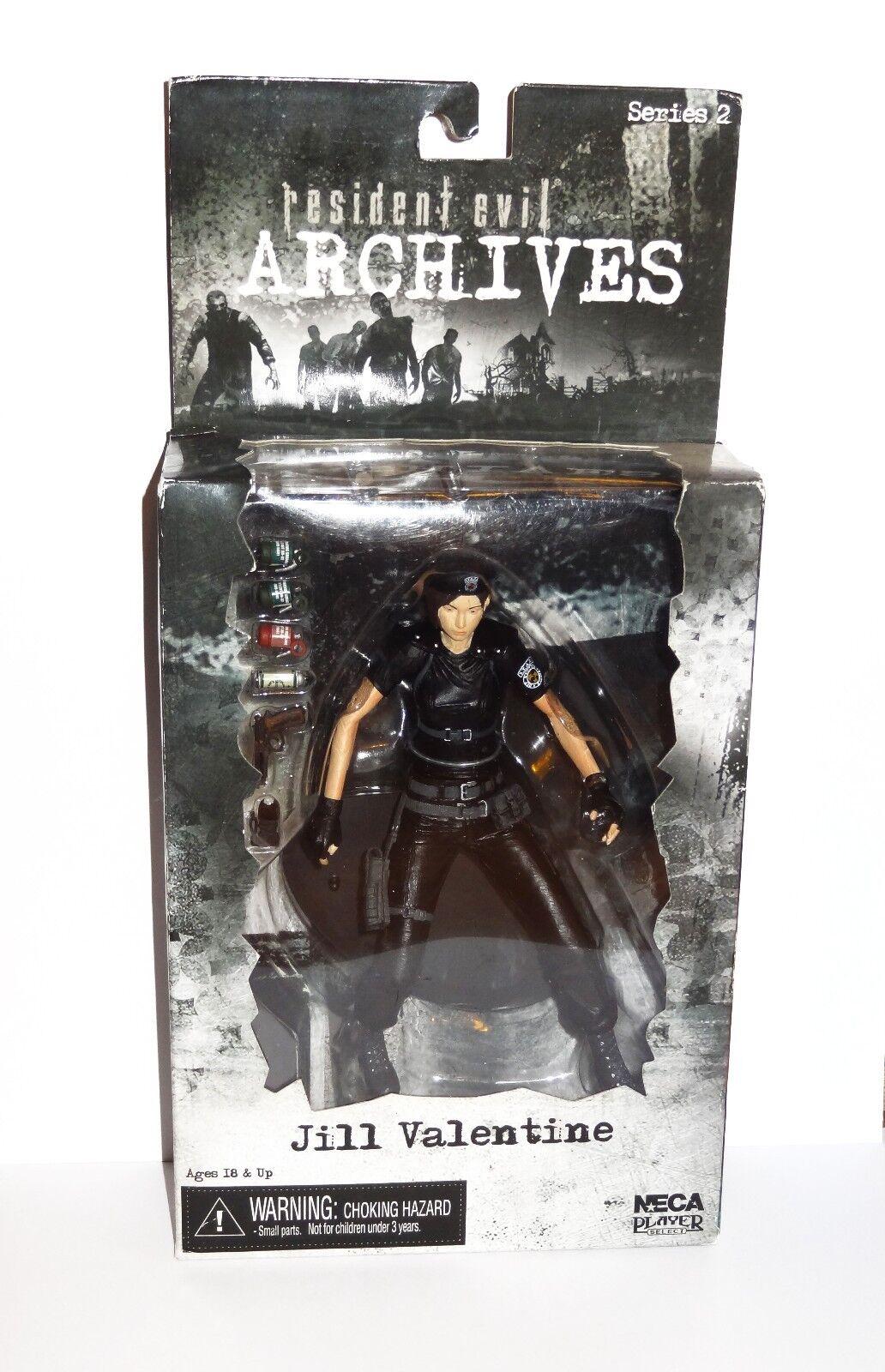 NECA Jill Valentine Resident Evil Negro Variante Figura Rara Biohazard Juguete Nuevo