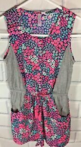 cdf586f1c6cb Japna Kids Blue Gray Floral Romper Jumpsuit Tassels Girls SZ 12 New ...