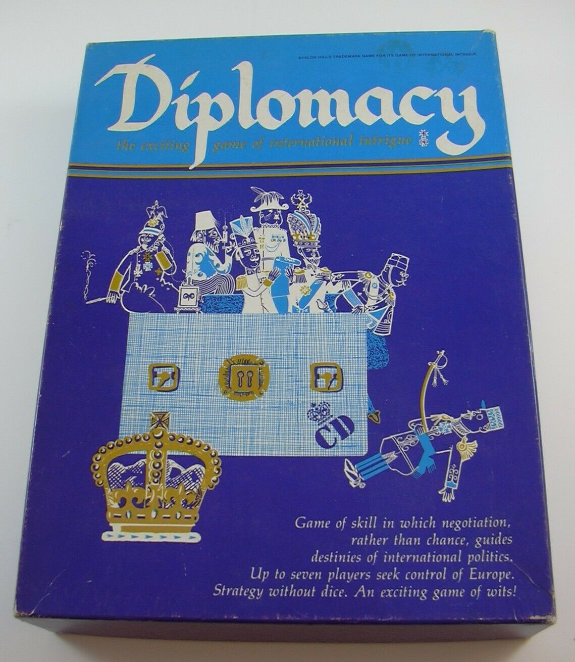 Diplomacy Board Game International Intrigue 1976 Avalon Hill COMPLETE Negotiate