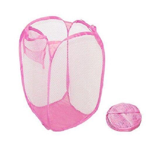 US Laundry Bag Pop Up Mesh Washing Foldable Laundry Basket Bin Hamper Storage GW