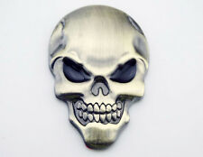 Skull Devil Emblem Decal Sticker 3D Metal Motorcycle Fuel Oil Tank Fairing