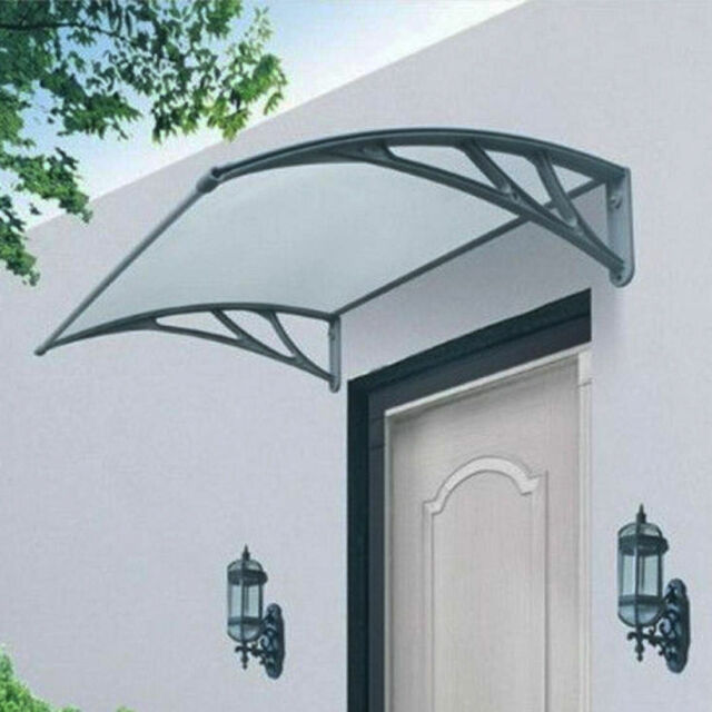 DOOR CANOPY AWNING RAIN SHELTER OUTDOOR FRONT BACK AWNING COVER ROOF PROTECTOR