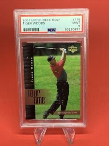2001 Upper Deck Tiger Woods Tour Time Rookie Card RC #176 PSA 9